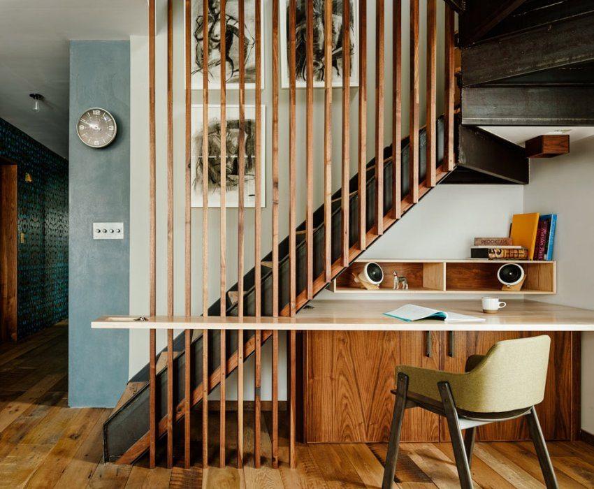Кабинет под лестницей дизайн