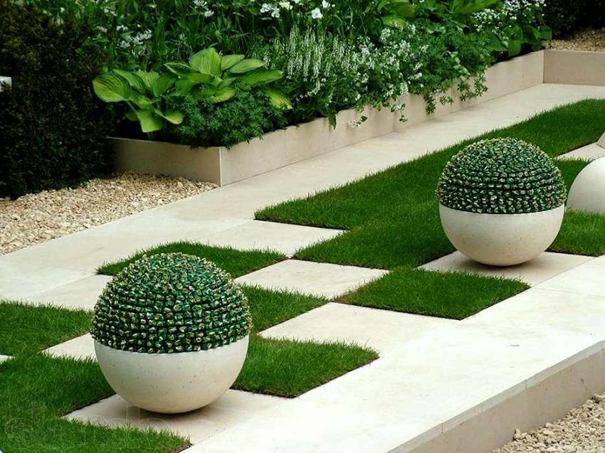 Красивый задний двор в современном стиле