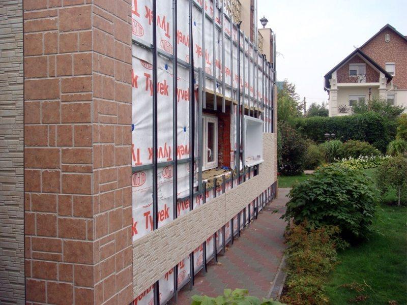 Каркас с утеплителем для последующей обшивки стен фиброцементными плитами