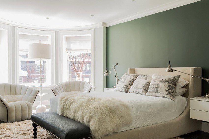 Водно-дисперсную краску используют в сухих помещениях, таких как спальня