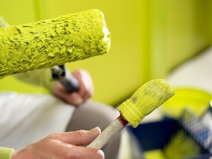 Окрашенные стены можно перекрашивать - это дает дополнительное преимущество данному виду отделки