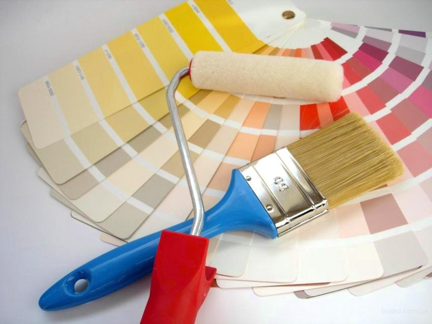 Цветовая палитра красок для внутренней отделки довольна разнообразна, кроме того, оттенки можно смешивать