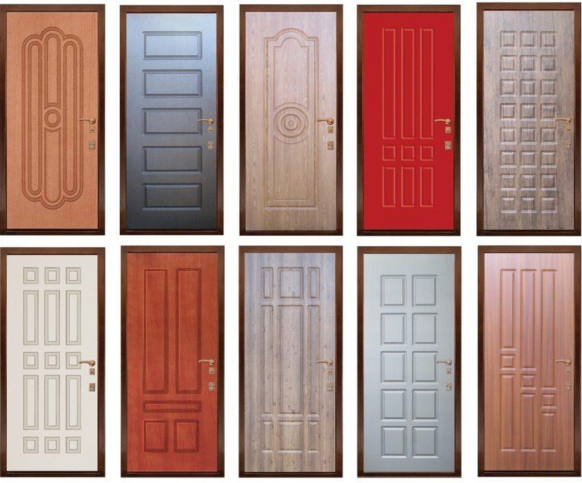 Различные варианты дизайнерских решений входных металлических дверей