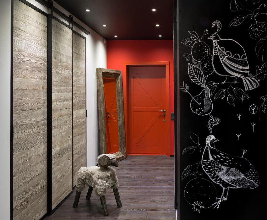 Интерьер прихожей и дизайн входной двери должны соответствовать общему стилевому решению квартиры