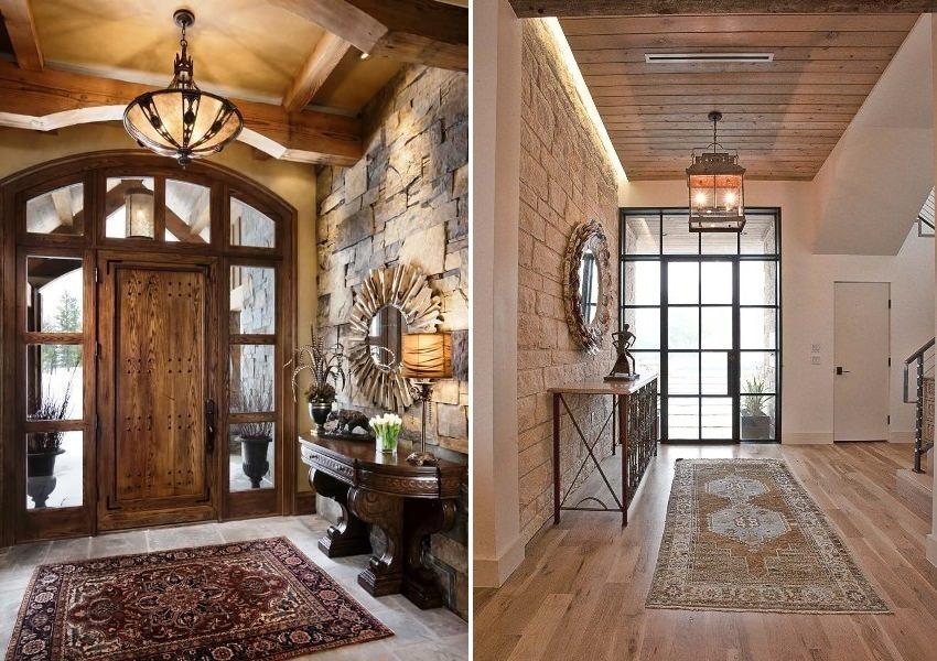 Варианты стильного оформления стен прихожей