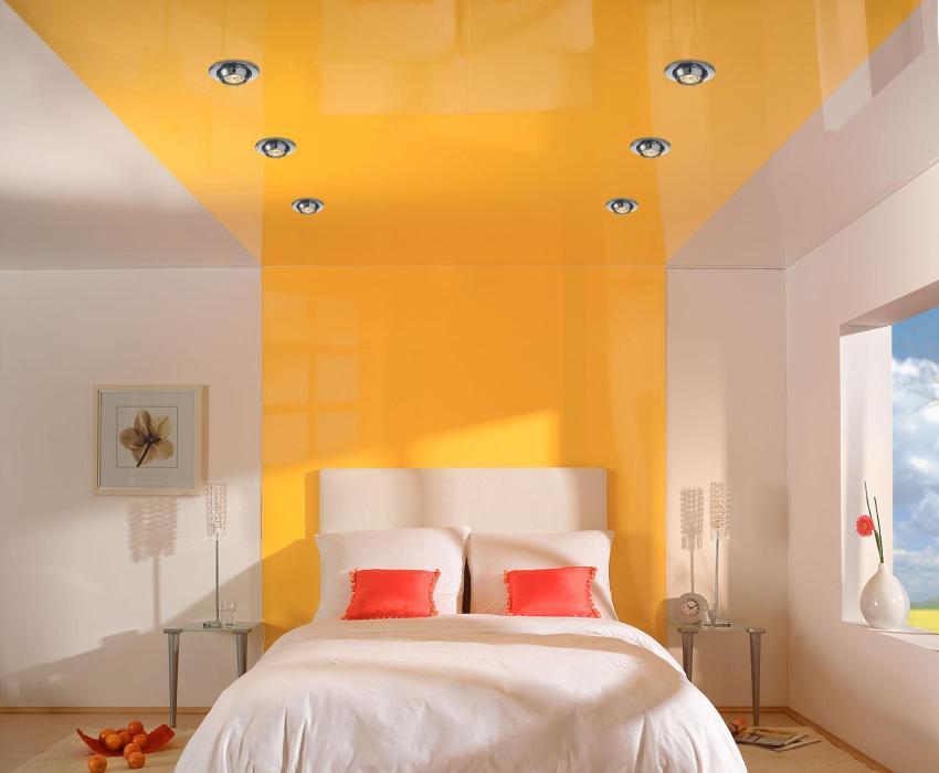 Поворотные светильники в спальне