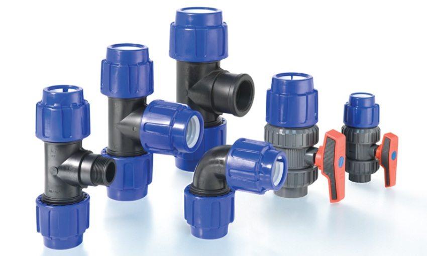 Компрессионные фитинги для соединения водопроводных труб ПНД