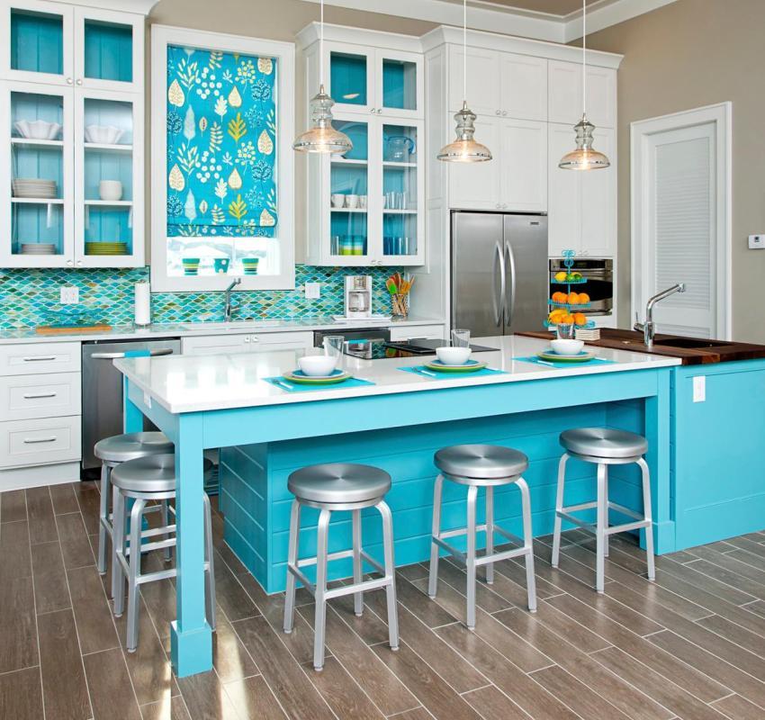 Самым востребованным материалом для отделки кухни является кафельная плитка