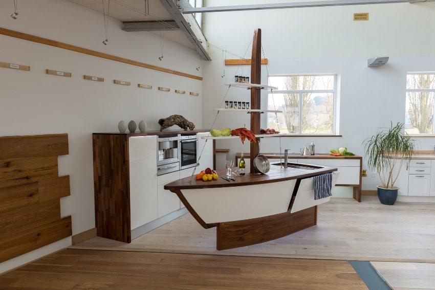 Пример креативного подхода к оформлению кухни