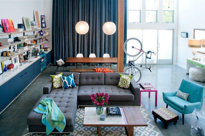 На наливной пол можно без ограничений ставить любую мебель