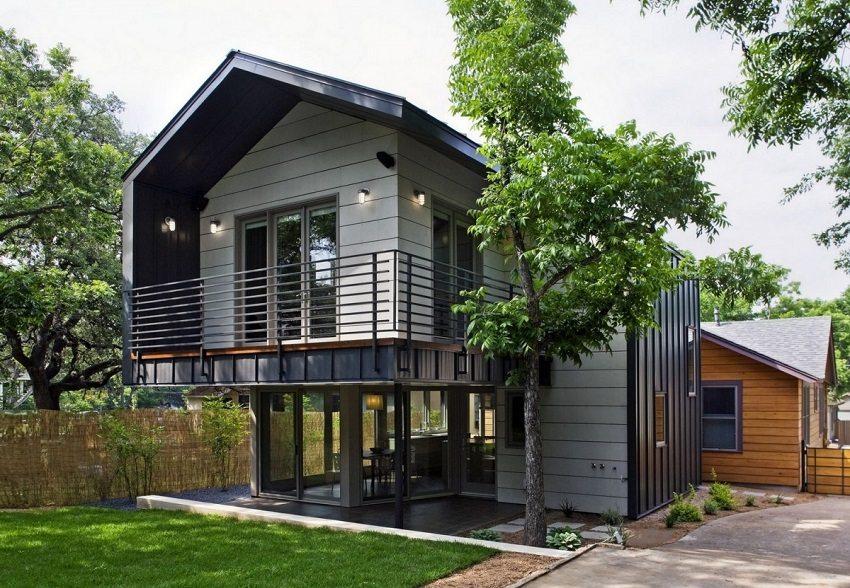 Дом на свайном фундаменте можно построить очень быстро