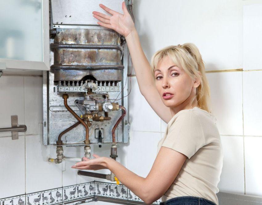 Внутреннее строение газового водонагревателя