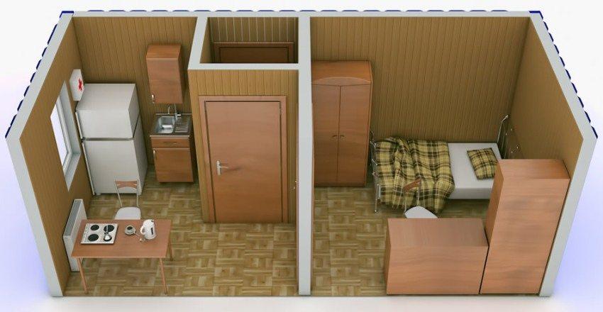 Средняя стоимость небольшой дачной бытовки - 30000 рублей