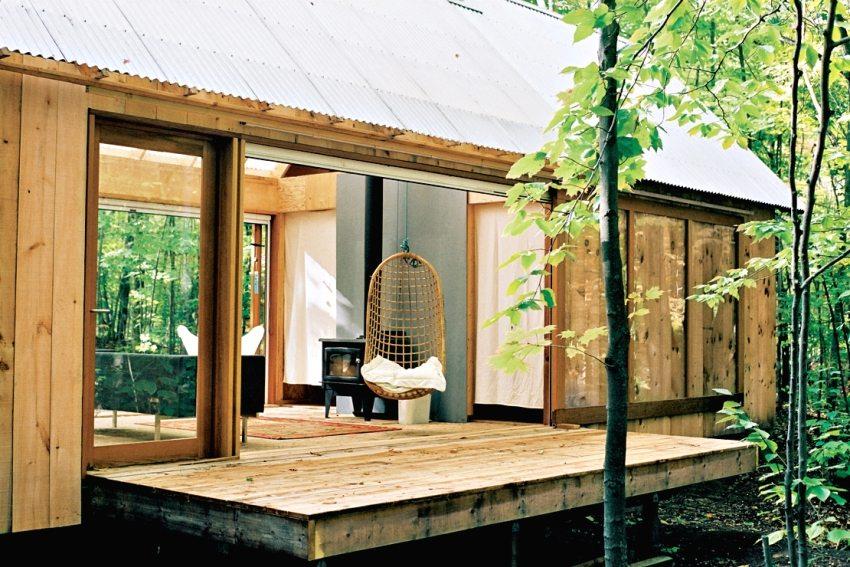 Для внутреннего отопления дачной постройки можно использовать дровяную печь