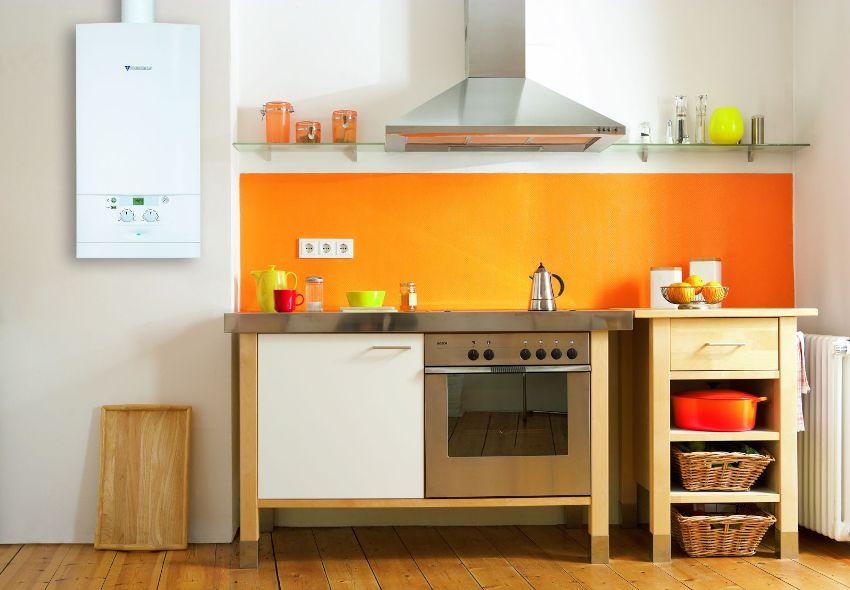Компактный настенный котел подходит для установки и использования в квартире