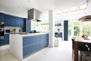 Зонирование пространства с помощью кухонного острова