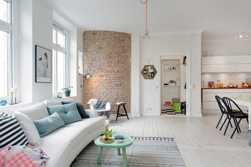Объединение гостиной и кухни позволит домочадцам проводить больше времени вместе