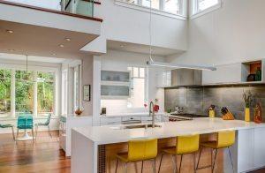 П-образное расположение кухонной мебели