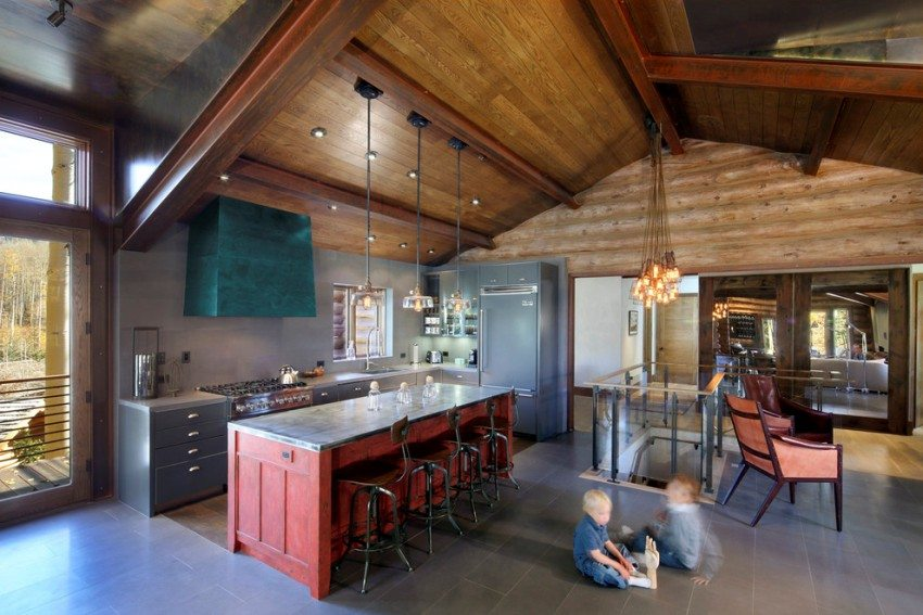 Обустраивая открытую кухню, следует уделить особое внимание выбору вытяжки с высокой мощностью