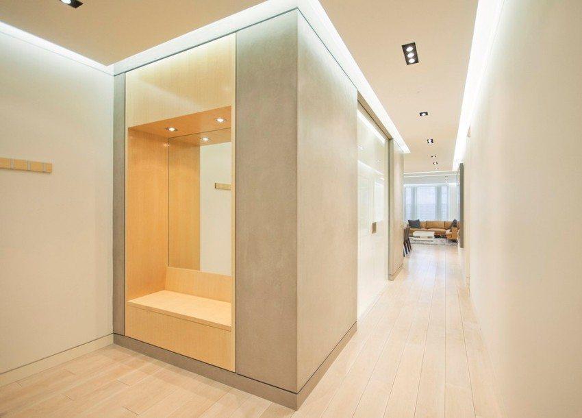 Освещение прихожей и коридора с использованием светодиодной подсветки