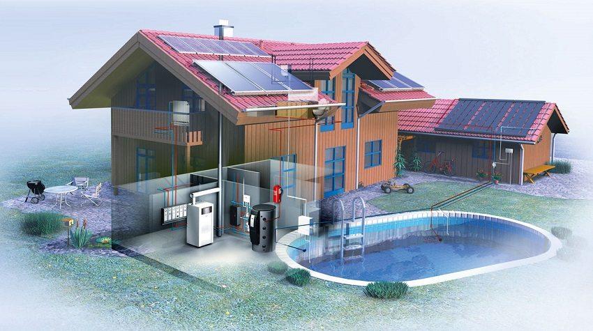 Обладателям бассейнов с функцией подогрева лучше выбрать двухконтурный котел с увеличенной на эту нагрузку мощностью