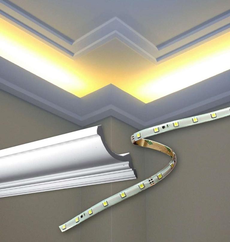 Потолочный плинтус для светодиодной ленты своими руками 28