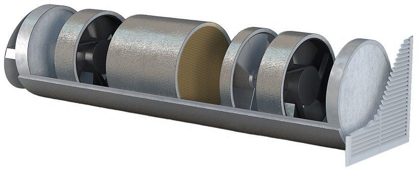 Приточный клапан с вентилятором - пример моноблочной системы принудительной вентиляции