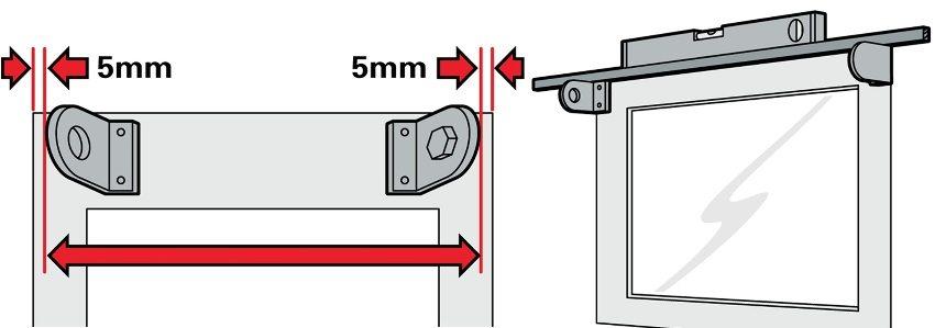 Шаг 3: установка и выравнивание кронштейнов
