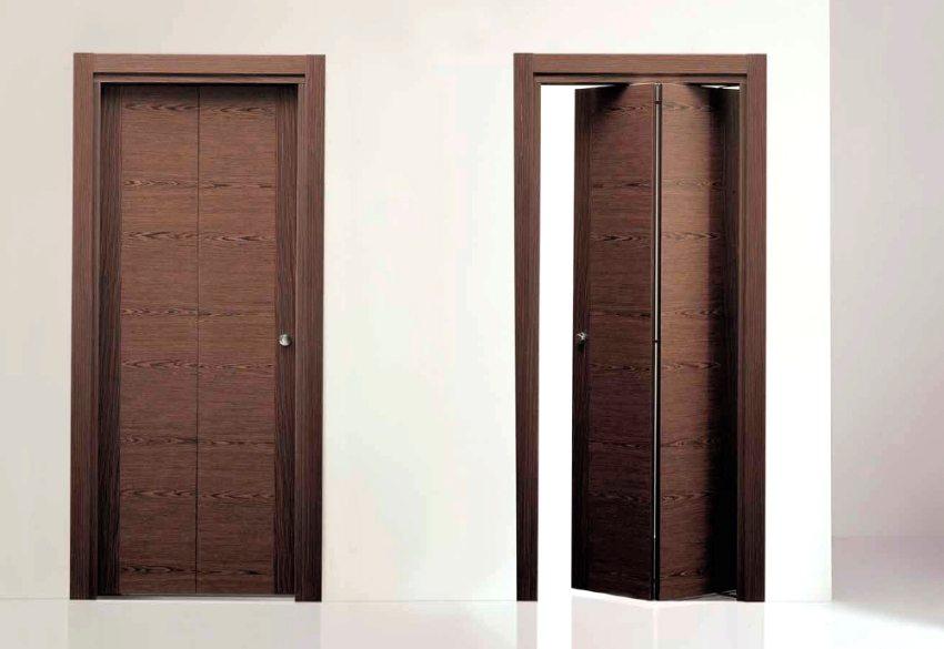 Дверь-книжка в открытом и закрытом положении
