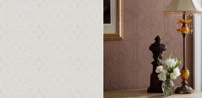 С помощью обоев под покраску можно легко изменить интерьер помещения