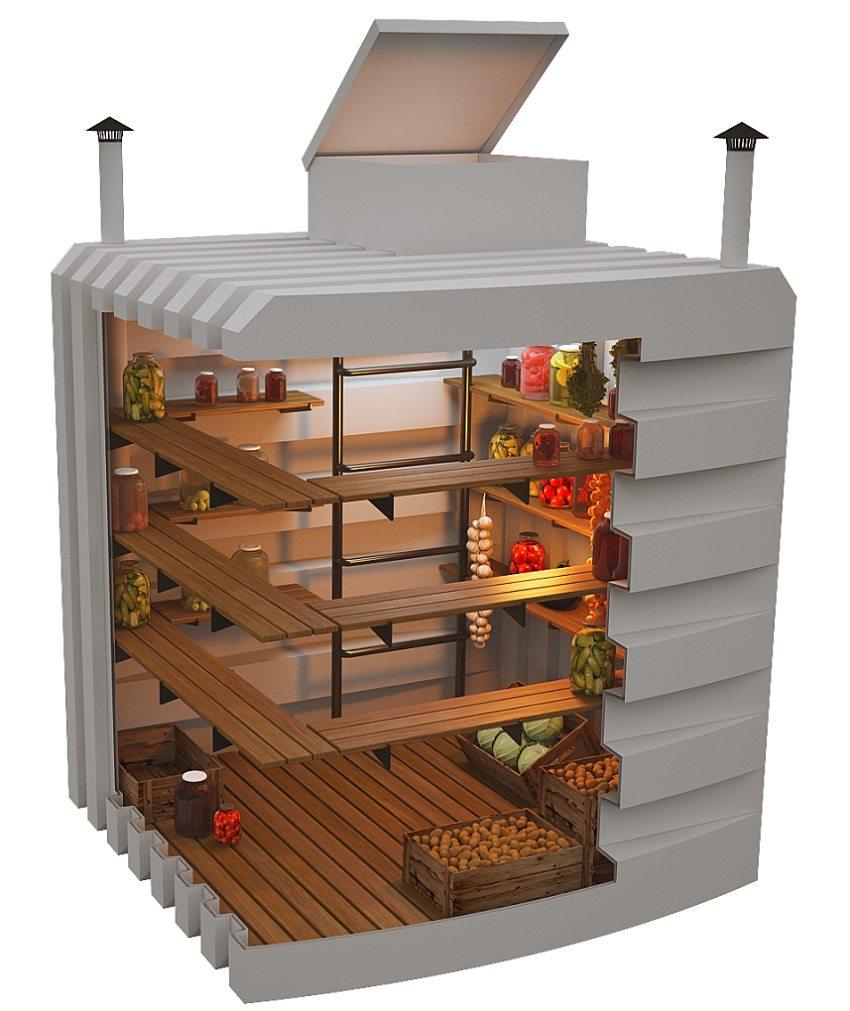 Пластиковый погреб с вентиляцией - современное решение обустройства подвала под гаражом