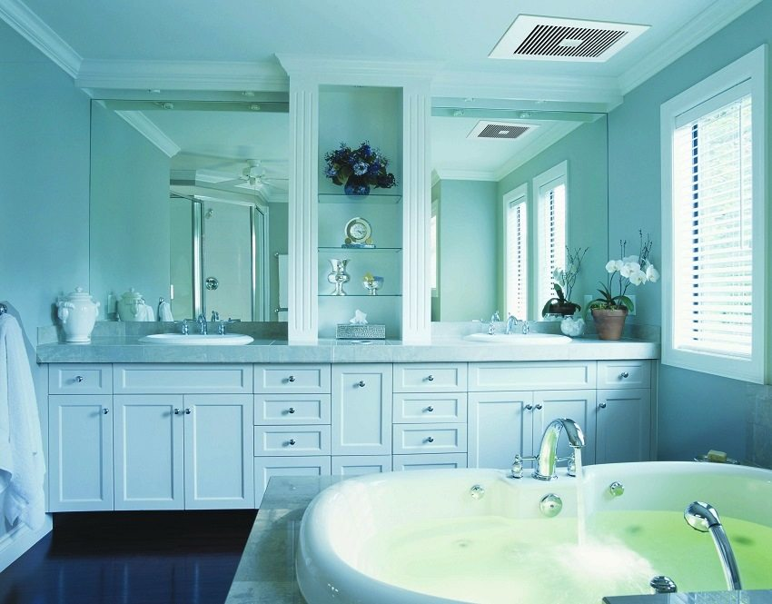 Приточно-вытяжная вентиляция обеспечит здоровый микроклимат в ванной комнате