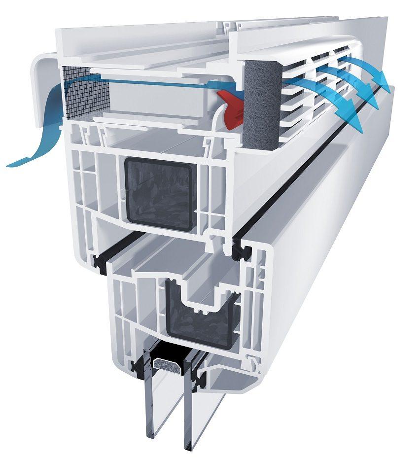Воздушный клапан в металлопластиковом окне обеспечит доступ свежего воздуха в помещение