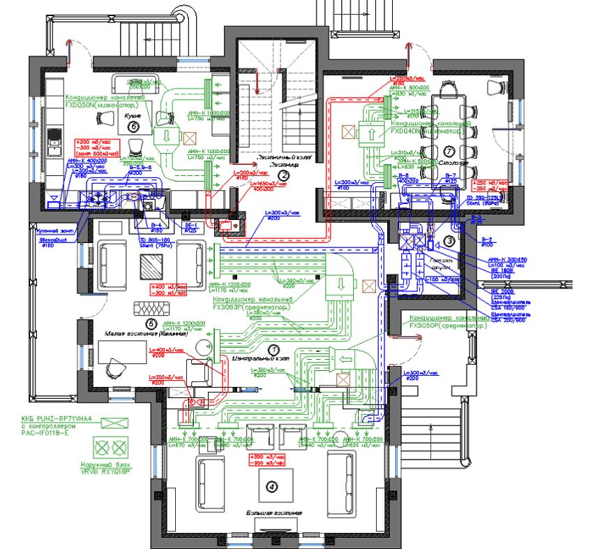 Проект приточно-вытяжной вентиляции частного дома