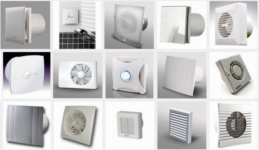 Различные виды вытяжных вентиляторов для ванной комнаты