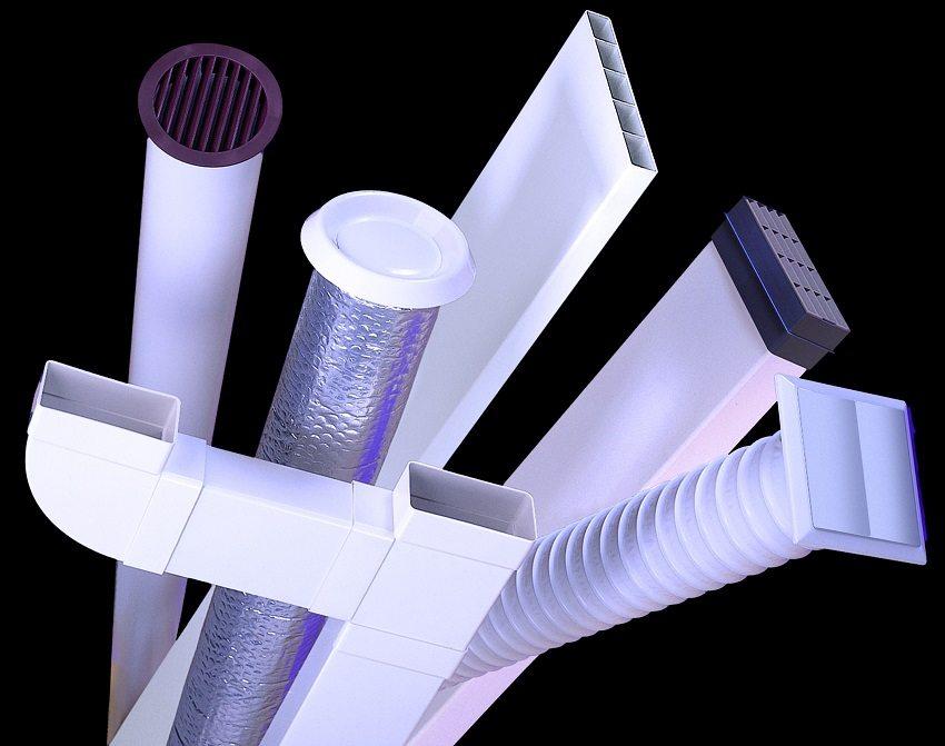 Пластиковые воздуховоды разнообразных форм и размеров