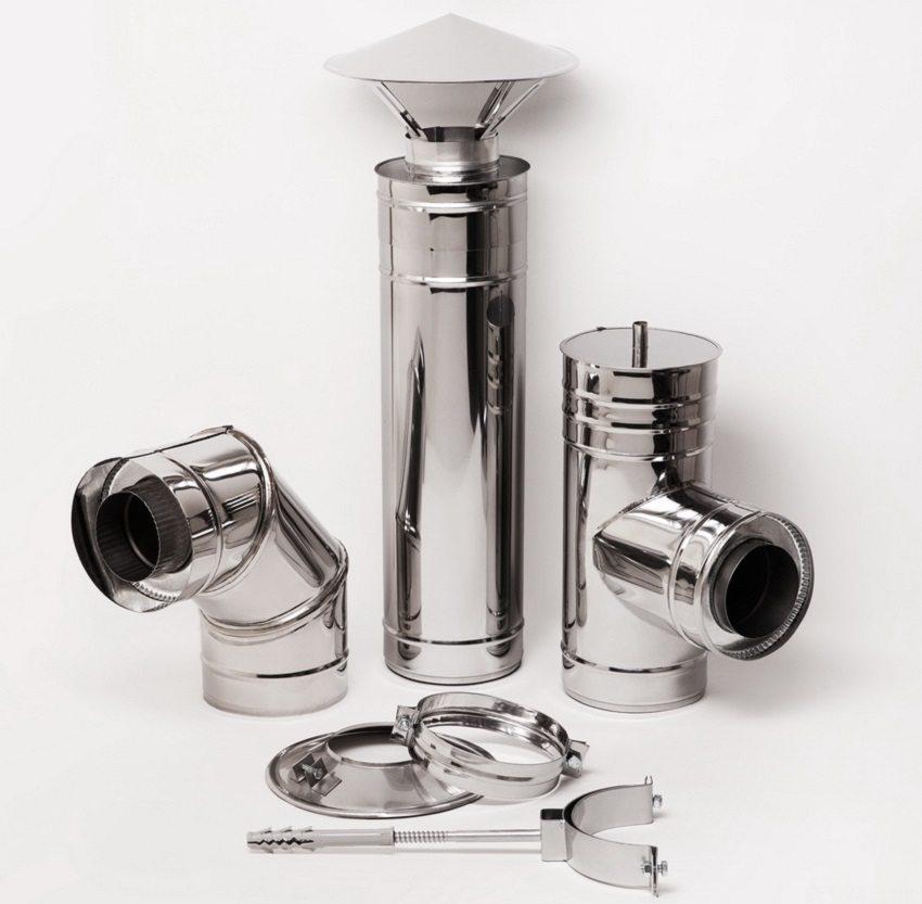 Фасонные элементы из нержавеющей стали для воздуховодов с круглым сечением
