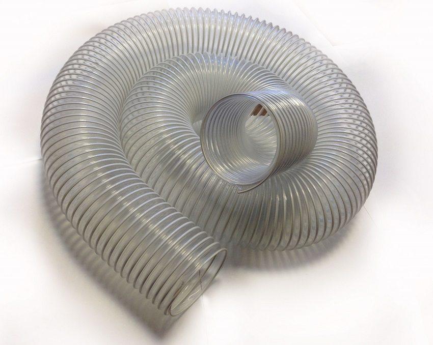 Пластиковые гофрированные воздуховоды сохраняют форму и жёсткость сечения при изгибах и растягивании