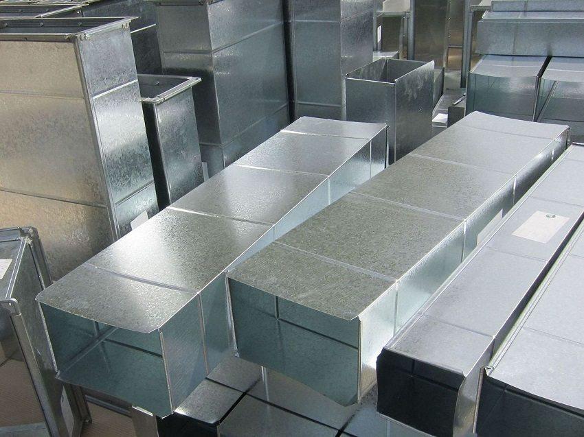 Воздуховоды квадратного сечения из оцинкованной стали