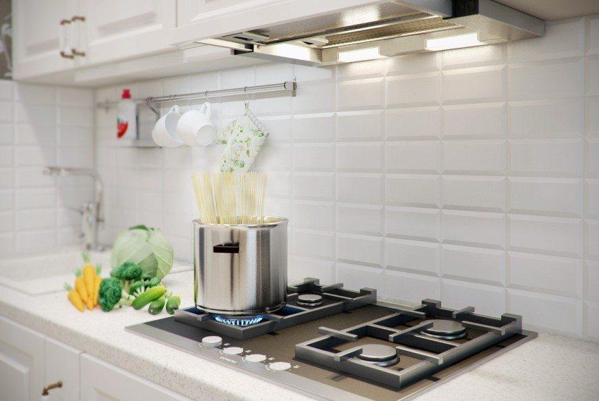 Встроенная в вытяжку подсветка обеспечивает дополнительный комфорт во время приготовления еды