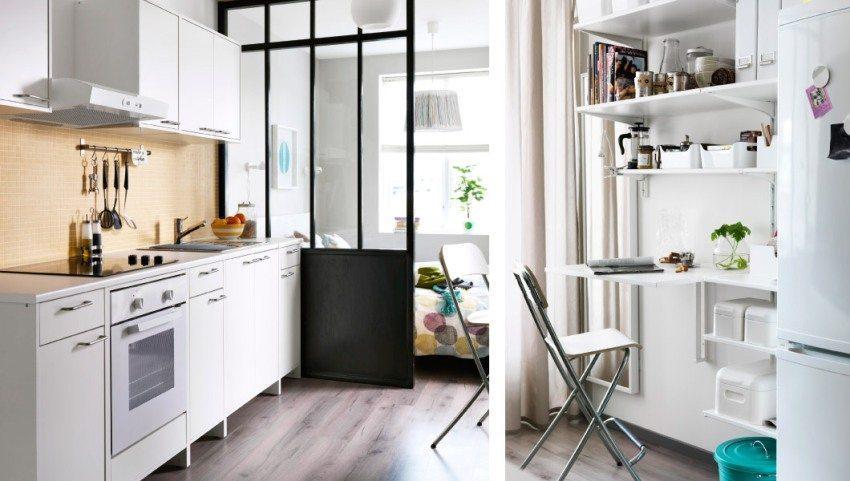 Для квартиры-студии или кухни, совмещенной с гостиной, нужно выбирать более мощную вытяжку