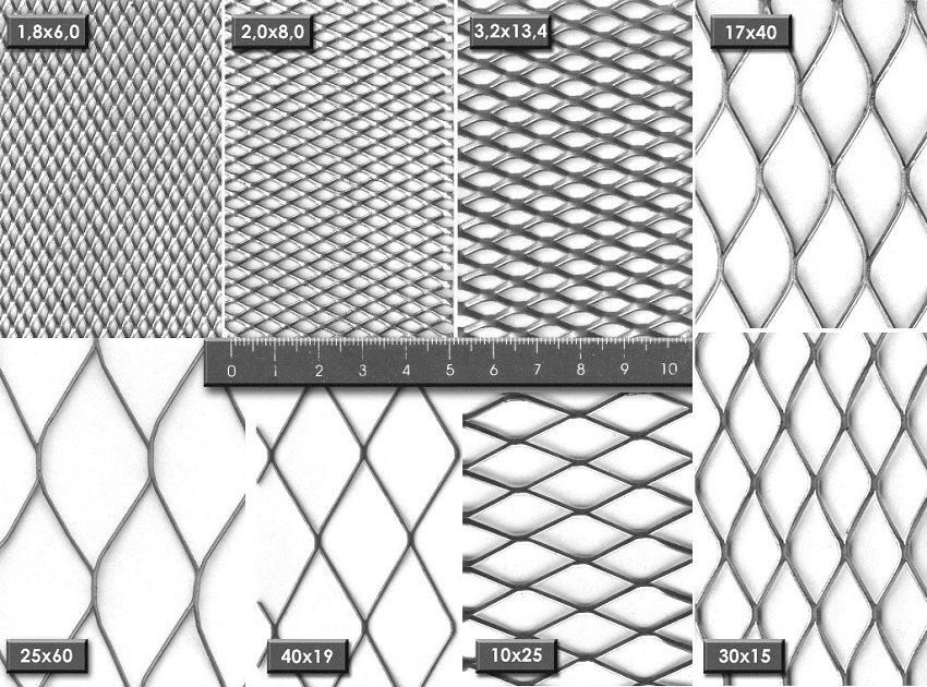Виды и размеры просечно-вытяжной сетки
