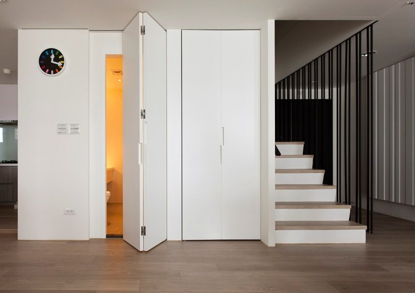 Ламинированная дверь в санузел, выполненная из МДФ