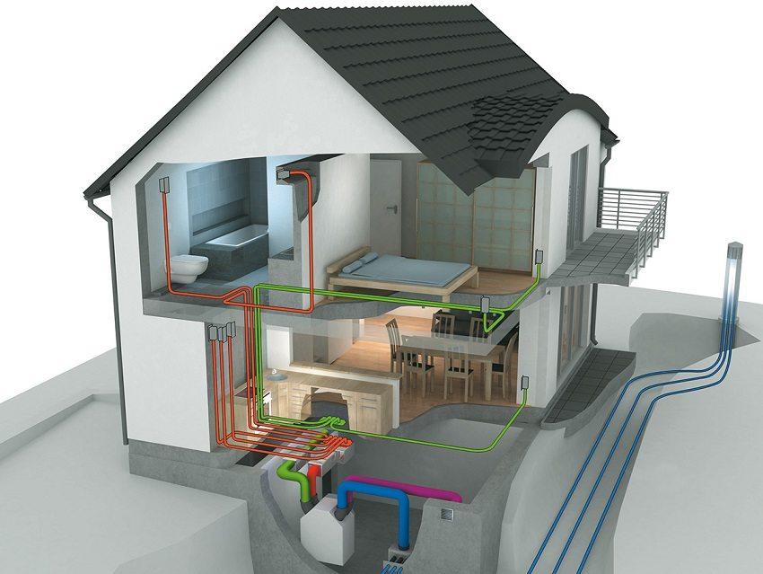 Централизованная вентиляционная система с автоматическим управлением обеспечивает фильтрацию, подогрев или охлаждение, желаемый уровень влажности подаваемого воздуха, а также отвод отработанного воздуха из помещений