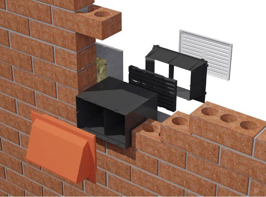 Вентиляционный клапан, встроенный в наружную стену, достаточно просто установить самостоятельно