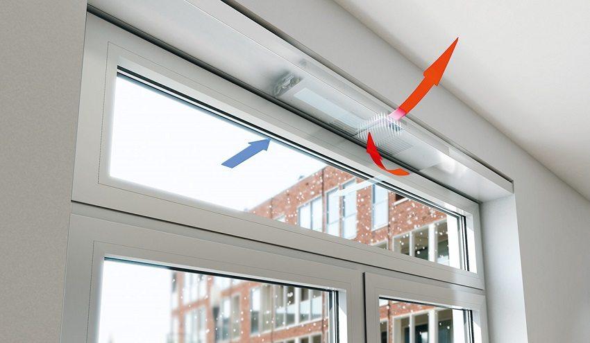 Рекуператор, встроенный в оконную раму, зимой обеспечит поступление теплого воздуха естественным способом