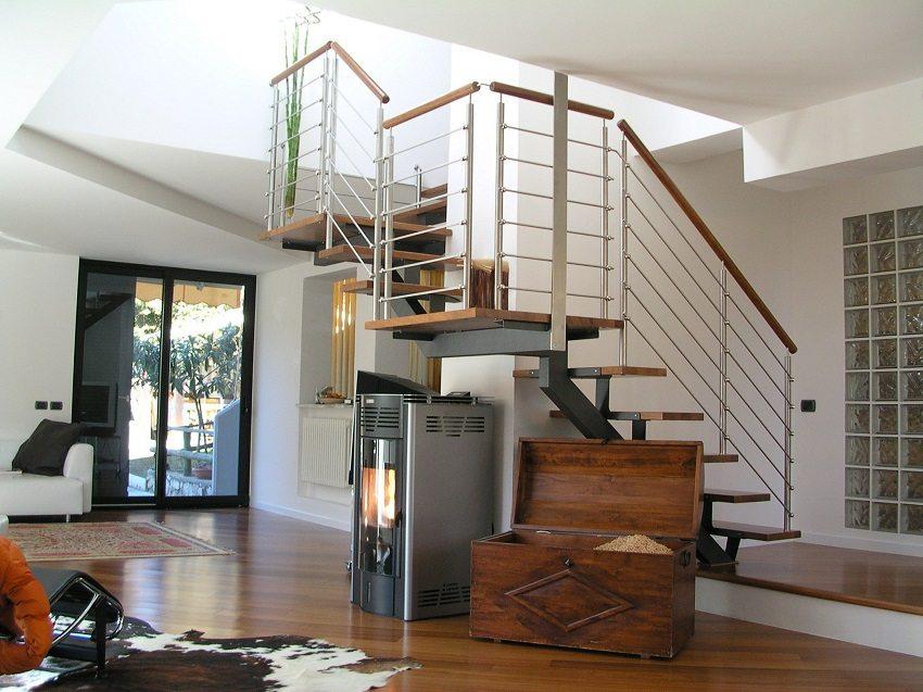Конструкцию лестницы выбирают исходя из её предназначения и наличия свободного пространства в помещении