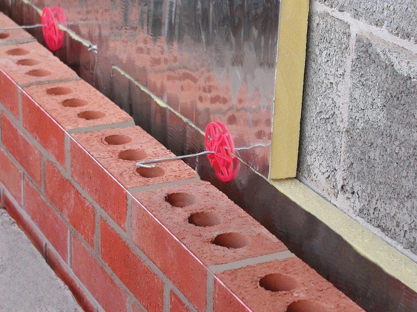 Обустройство невентилируемого фасада из трех слоев с применением плит пеноплекса