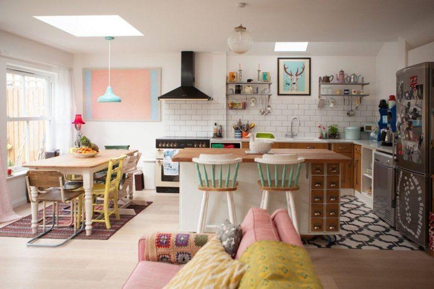 Традиционный способ отделки потолка на кухне - оштукатуривание и окрашивание