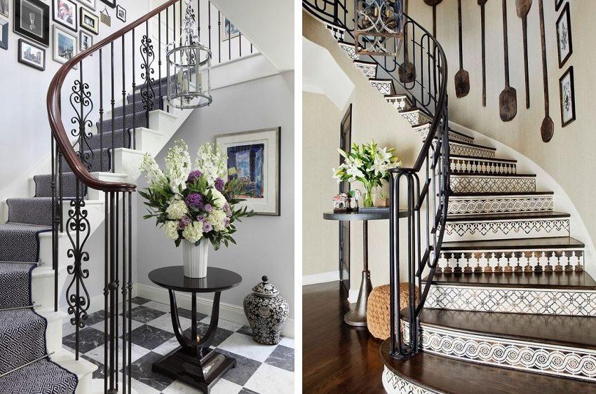 Кованные перила придают лестнице красоту и неповторимость